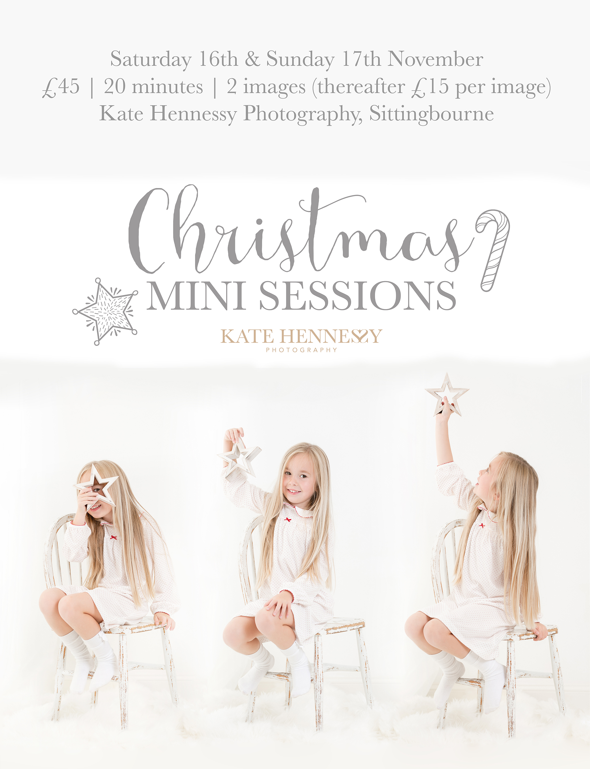 Christmas mini sessions Kent Kate Hennessy